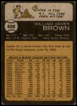 1973 Topps #508  Gates Brown  Back Thumbnail