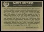 1961 Topps #393   -  Don Cardwell / Glen Hobbie Batter Bafflers Back Thumbnail