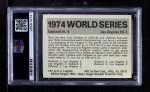 1971 Fleer World Series #72   1974 A's / Dodgers Back Thumbnail