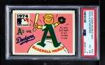 1971 Fleer World Series #72   1974 A's / Dodgers Front Thumbnail