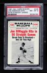 1961 Nu-Card Scoops #438   -   Joe DiMaggio Joe Dimaggio Hits in 56 Straight Games Front Thumbnail