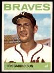 1964 Topps #198  Len Gabrielson  Front Thumbnail