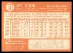 1964 Topps #361  Jay Hook  Back Thumbnail