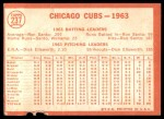 1964 Topps #237   Cubs Team Back Thumbnail