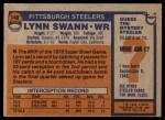 1976 Topps #140  Lynn Swann  Back Thumbnail