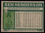 1977 Topps #242  Ken Henderson  Back Thumbnail