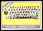 1966 Topps #326 DOT  Braves Team Front Thumbnail