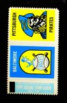 1962 Topps Stamp Panels   Orioles / Pirates Front Thumbnail