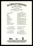 2008 Topps Allen & Ginter #120  Derek Jeter  Back Thumbnail