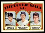 1972 Topps #724   -  John Curtis / Rich Hinton / Mickey Scott AL Rookies - Pitchers Front Thumbnail