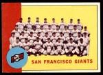 1963 Topps #417   Giants Team Front Thumbnail