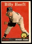 1958 Topps #13 RED Billy Hoeft  Front Thumbnail