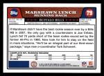 2008 Topps #79  Marshawn Lynch  Back Thumbnail