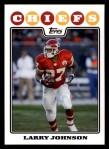 2008 Topps #95  Larry Johnson  Front Thumbnail