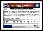 2008 Topps #277  Antoine Bethea  Back Thumbnail