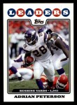 2008 Topps #290  Adrian Peterson  Front Thumbnail