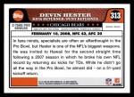 2008 Topps #313   -  Devin Hester Pro Bowl Back Thumbnail