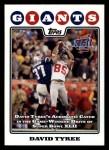 2008 Topps #317  David Tyree  Front Thumbnail