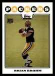 2008 Topps #332  Brian Brohm  Front Thumbnail