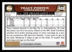 2008 Topps #432  Tracy Porter  Back Thumbnail
