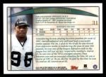 1998 Topps #31  Darrell Russell  Back Thumbnail