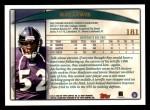 1998 Topps #181  Ray Lewis  Back Thumbnail