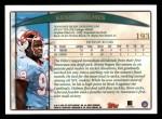 1998 Topps #193  Kenny Holmes  Back Thumbnail