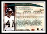 1998 Topps #222  Terrell Fletcher  Back Thumbnail