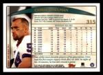 1998 Topps #315  Chris Spielman  Back Thumbnail