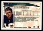 1998 Topps #332  Ryan Leaf  Back Thumbnail