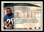 1998 Topps #339  Fred Taylor  Back Thumbnail