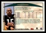 1998 Topps #341  Hines Ward  Back Thumbnail