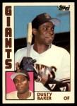 1984 Topps Traded #5  Dusty Baker  Front Thumbnail
