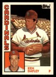 1984 Topps Traded #29  Ken Dayley  Front Thumbnail