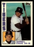 1984 Topps Traded #36  Darrell Evans  Front Thumbnail