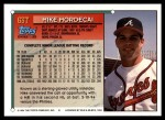 1994 Topps Traded #63 T Mike Mordecai  Back Thumbnail