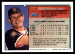1994 Topps Traded #122 T Rich Rowland  Back Thumbnail