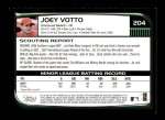 2008 Bowman #204  Joey Votto  Back Thumbnail
