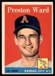 1958 Topps #450  Preston Ward  Front Thumbnail