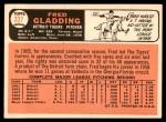 1966 Topps #337  Fred Gladding  Back Thumbnail