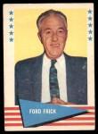 1961 Fleer #29  Ford Frick  Front Thumbnail
