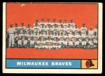 1961 Topps #463 MIL  Braves Team Front Thumbnail