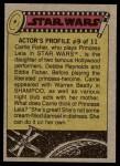 1977 Topps Star Wars #85   Luke on the sand planet Back Thumbnail