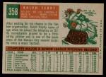 1959 Topps #358  Ralph Terry  Back Thumbnail