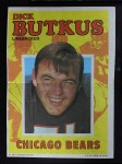 1971 Topps Football Posters #28  Dick Butkus  Front Thumbnail