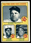 1973 Topps #1   -  Hank Aaron / Babe Ruth / Willie Mays All-Time HR Leaders Front Thumbnail