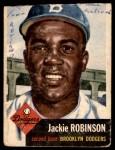 1953 Topps #1  Jackie Robinson  Front Thumbnail