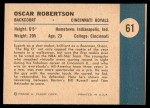 1961 Fleer #61   -  Oscar Robertson In Action Back Thumbnail
