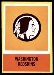 1967 Philadelphia #192   Washington Redskins Logo Front Thumbnail