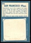 1961 Topps #66   49ers Team Back Thumbnail